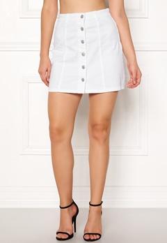 Jacqueline de Yong Five Button Skirt White Bubbleroom.eu