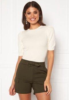Jacqueline de Yong Lady S/S Pullover Knit Eggnog Bubbleroom.eu