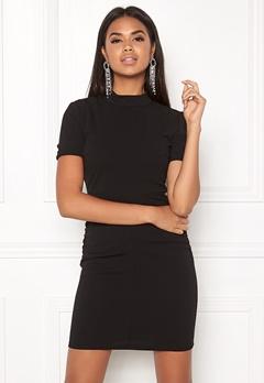 Jacqueline de Yong Lauren S/S Highneck Dress Black Bubbleroom.eu