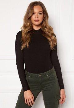 Jacqueline de Yong Newmaryan L/S Highneck Pullover Knit Black Bubbleroom.eu