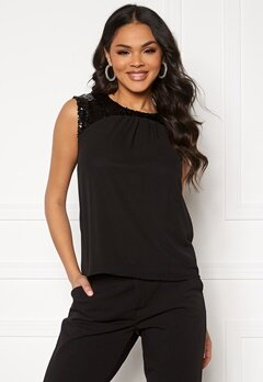 Jacqueline de Yong Otis Upper Sequins Top Black/Sequins Bubbleroom.eu
