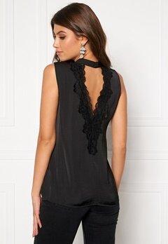 Jacqueline de Yong Penelope S/L Lace Top Black Bubbleroom.eu