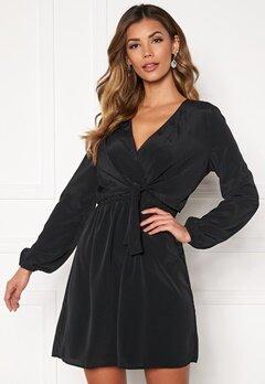Jacqueline de Yong Pita L/S Tie Dress Black Bubbleroom.eu