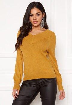 Jacqueline de Yong Shanon L/S Pullover Harvest Gold Bubbleroom.eu
