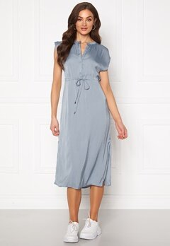 Jacqueline de Yong Sheela S/S Long Dress Faded Denim Bubbleroom.eu