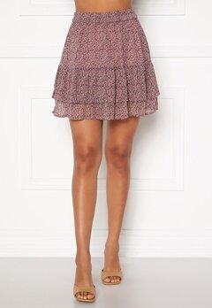 Jacqueline de Yong Sibel Short Skirt Wistful Mauve AOP Bubbleroom.eu