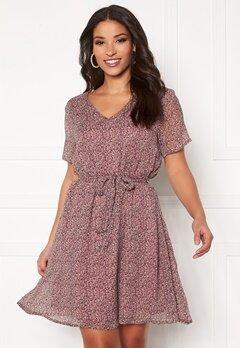 Jacqueline de Yong Sibel S/S Dress Wistful Mauve AOP Bubbleroom.eu