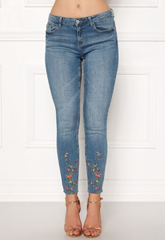 Jacqueline de Yong Skinny Reg Camilla Medium Blue Denim Bubbleroom.eu