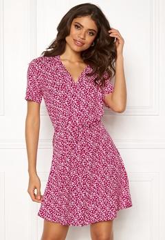 Jacqueline de Yong Star S/S Shirt Dress Cerise Bubbleroom.eu