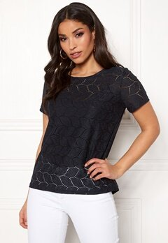 Jacqueline de Yong Tag S/S Lace Top Night Sky Bubbleroom.eu