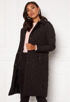 Jacqueline de Yong Tora Long Quilt Trenchcoat Black Bubbleroom.eu