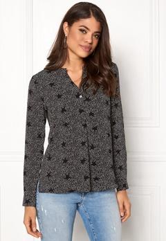 Jacqueline de Yong Tracy L/S Shirt Black AOP Bubbleroom.eu