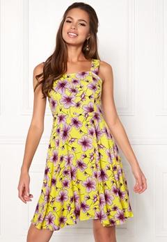 Jacqueline de Yong Victory Strap Dress Lemon Zest Bubbleroom.eu