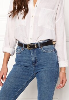 Pieces Janey Jeans Belt Black/Gold Bubbleroom.eu