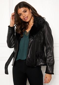 JOFAMA Emma Leather Jacket 00 Black Bubbleroom.eu
