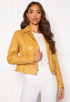 JOFAMA Kajta Leather Jacket Yellow Bubbleroom.eu