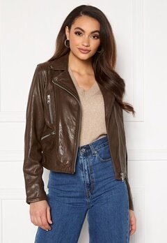 JOFAMA Kaley Leather Biker Brownie Bubbleroom.eu