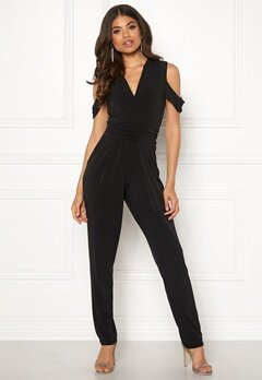 John Zack Cold Shoulder Jumpsuit Black Bubbleroom.eu