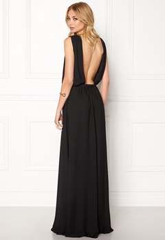 John Zack Open Back Maxi Dress Black Bubbleroom.eu
