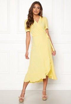 John Zack Short Sleeve Wrap Dress Lemon Bubbleroom.eu