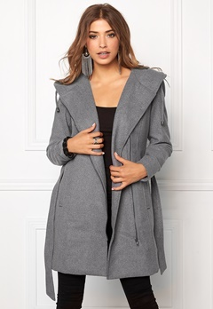 OBJECT Jolie Coat Light Grey Melange Bubbleroom.eu