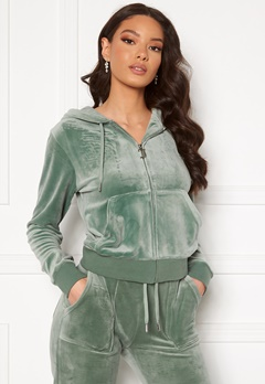 Juicy Couture Robertson Classic Velour Hoodie Chinois Green Bubbleroom.eu