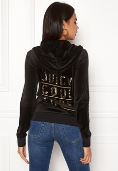 Juicy Couture Stack Velour Robertson Jacket Pitch Black Bubbleroom.eu