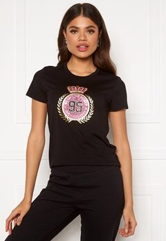 Juicy Couture Traditional Logo Tee Pitch Black Bubbleroom.eu