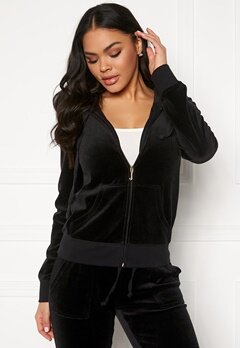 Juicy Couture Velour Track On Going Jkt Pitch Black Bubbleroom.eu