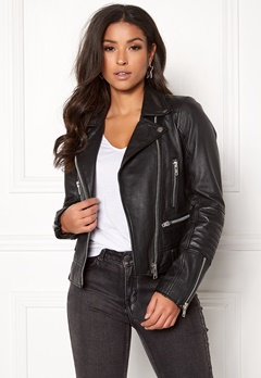 JOFAMA Kajta Leather Jacket 00 Black Bubbleroom.eu