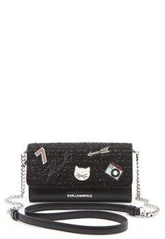 Karl Lagerfeld Classic Wallet On Chain Black Bubbleroom.eu