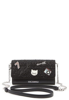 Karl Lagerfeld Classic Wallet On Chain Black Bubbleroom.eu