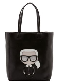 Karl Lagerfeld Ikonik Soft Tote Black/Nickel Bubbleroom.eu