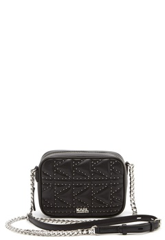 Karl Lagerfeld Quilted Stud Camera Bag Black/Nickel Bubbleroom.eu