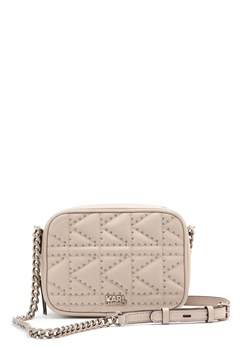 Karl Lagerfeld Quilted Stud Camera Bag Taupe Bubbleroom.eu