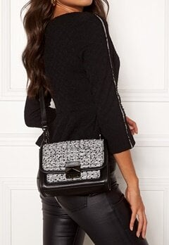 Karl Lagerfeld Quilted Tweed Small Bag Black/White Bubbleroom.eu