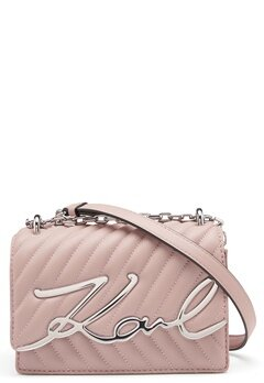 Karl Lagerfeld Signature Stitch S Bag 526 Powder Pink Bubbleroom.eu