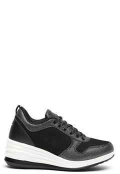 LA Gear Lima Sneakers Black/Silver Bubbleroom.eu