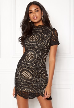 Girl In Mind Lace Dress Black Bubbleroom.eu