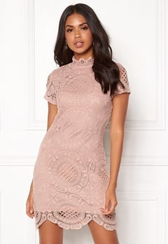 Girl In Mind Lace Dress Mauve Bubbleroom.eu