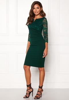 Goddiva Lace Top Midi Dress Emerald Bubbleroom.eu