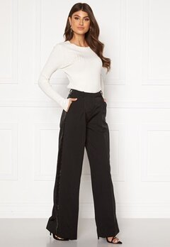 LARS WALLIN Wide Pants Black Black Bubbleroom.eu