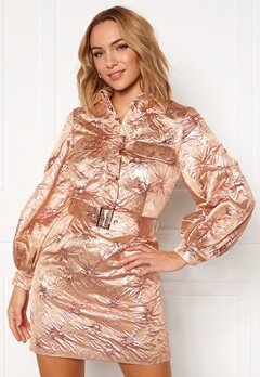 LARS WALLIN Workwear Dress Pink Metallic Bubbleroom.eu