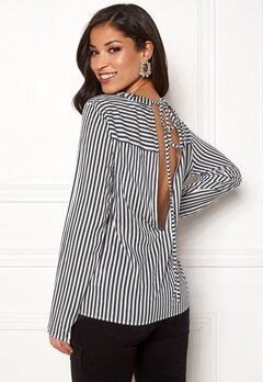 Rut & Circle Layla Back Knot Shirt Black/White Bubbleroom.eu