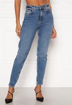Pieces Leah Mom HW Jeans Medium Blue Denim Bubbleroom.eu