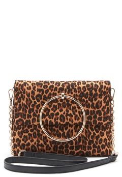 New Look Leopard Matilda Metal Bag Brown Pattern Bubbleroom.eu