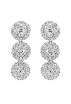 SNÖ of Sweden Lex Long Earrings Silver/Clear Bubbleroom.eu