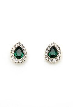 LILY AND ROSE Amelie Earrings Emerald Bubbleroom.eu