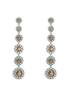 LILY AND ROSE Celeste Earrings Diamond Grey Bubbleroom.eu