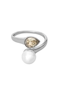 LILY AND ROSE Ella Pearl Ring Ivory Silver Bubbleroom.eu